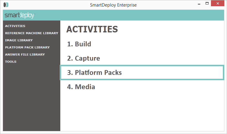 New in SmartDeploy 2 0: Platform Packs - SmartDeploy